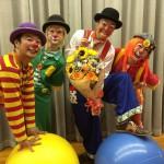 三重県名張市の小学校でクラウンサーカス
